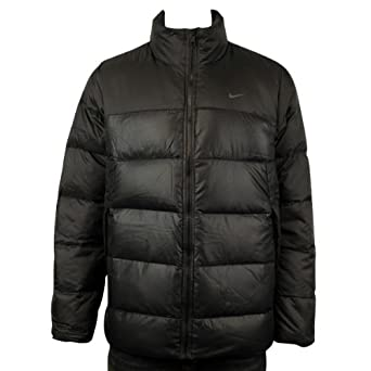 a3c5f216b36f Nike Mens AD Black Padded Duck Down Winter Warm Coat Jacket Size S M L XL  XXL
