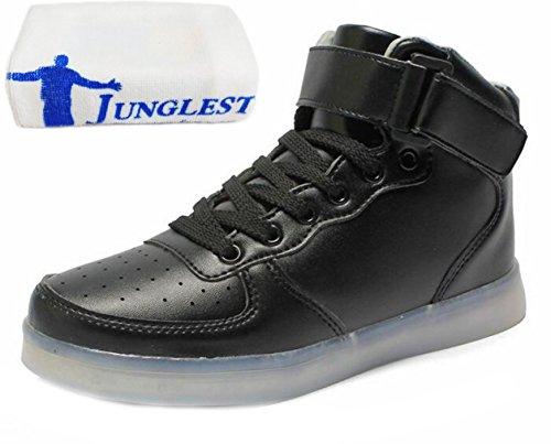 towel Present High Sneaker small JUNGLEST® Black Shoes Flashing LED Unisex Charging USB Top Sport 55xZr1wqI