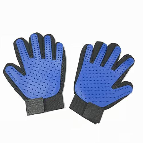 LukBaupets Pet Grooming Glove – Gentle Deshedding Brush Glove – Efficient Pet Hair Remover Mitt – Enhanced Five Finger Design – Perfect for Dog & Cat with Long & Short Fur – 1 Pair