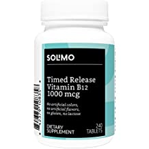 Amazon Brand - Solimo Timed Release Vitamin B12 1000mcg, 240 Tablets, Eight Month Supply