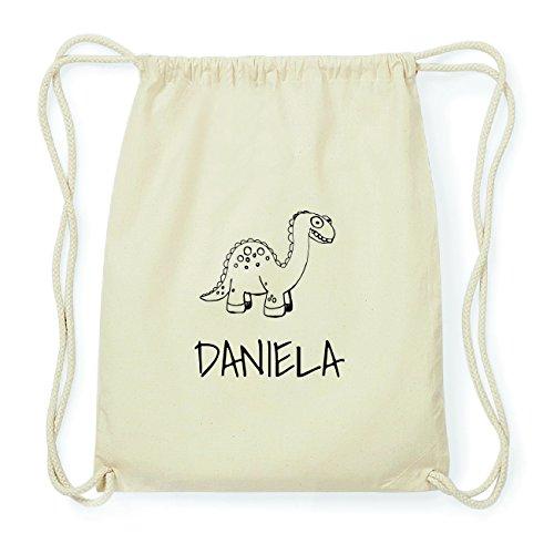 JOllipets DANIELA Hipster Turnbeutel Tasche Rucksack aus Baumwolle Design: Dinosaurier Dino ISKVy
