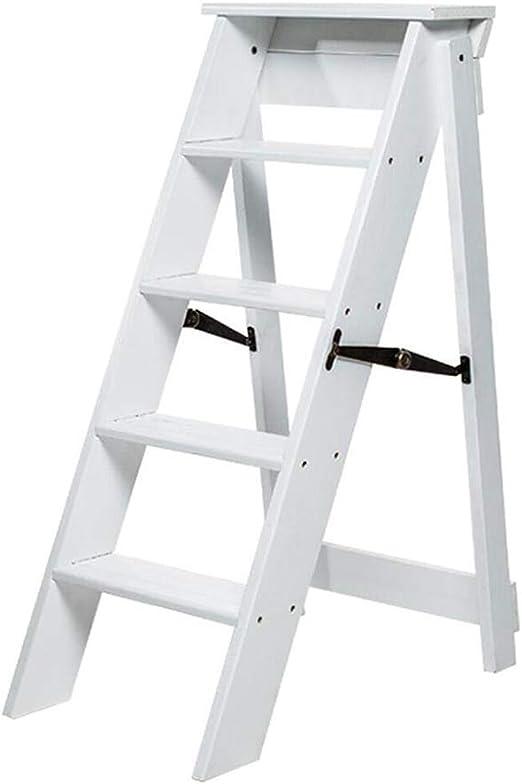 QQXX Escalera Plegable Silla Escalera 5 Pasos Puerta de Seguridad ...