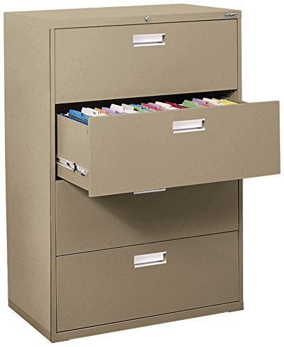Sandusky Lee LF6A424-04 600 Series 4 Drawer Lateral File Cabinet, 19.25'' Depth x 53.25'' Height x 42'' Width, Tropic Sand by Sandusky
