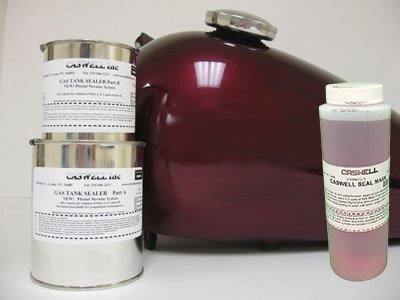 Caswell Epoxy Gas Tank Sealer Motorcycle Kit and Masking ()