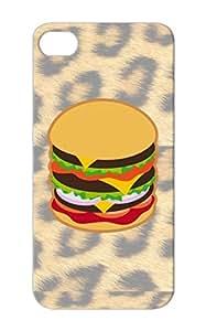 Dirtproof Hamburger BBQ Black Protective Case For Iphone 5 Funny Burger Hamburger Food Picnic Miscellaneous Barbecue Funny Lover