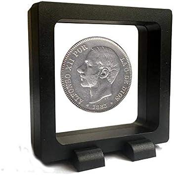 IMPACTO COLECCIONABLES Monedas Antiguas - España 5 Pesetas de Plata 1882/87. Alfonso XII con Barba: Amazon.es: Juguetes y juegos