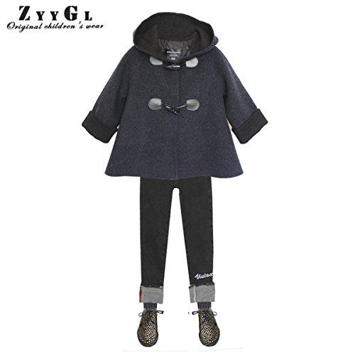 Little Girls Autumn Winter Warm Handmade Coat Long Woolen Overcoat by ZYYGL