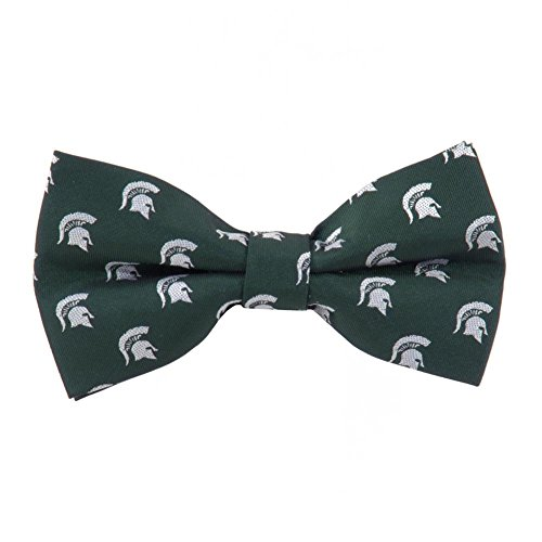 - Michigan State Spartans Repeated Logo Bow Tie - NCAA College Team