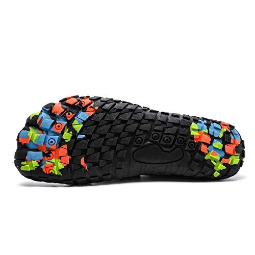 Bopika Water Shoes Sports Quick Dry Barefoot Shoes Diving Swim Surf Aqua Walking Beach for Mens Womens (12 M US Men, WG-Black)