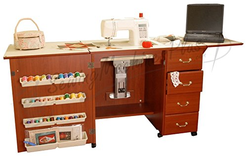Arrow Norma Jean Sewing Machine Storage Cabinet, Cherry