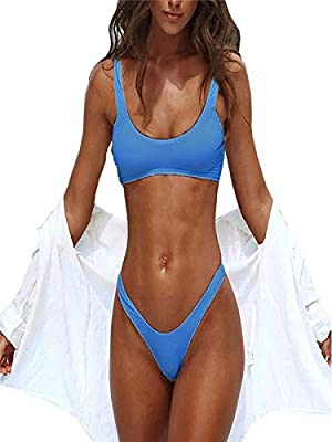 Tsmile Women Bikini Set Summer 2PCS Push-up Padded Bra Tube Crop Beach Bandage Swimwear Bathing Suit