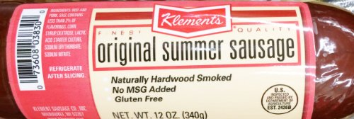 Klement's Original Summer Sausage, 12 Ounce