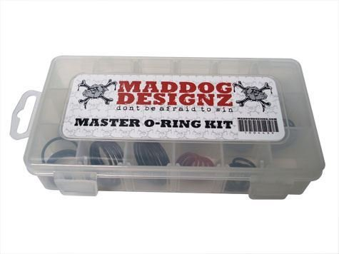 Maddog Master Paintball O-Ring Replacement Kit - 85 Total O-Rings with Storage - Rail Proto Accessories