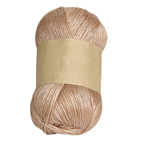 100g DK Yarn for Knitting and Crochet | Perfect Beginner Kit Woolen Yarn Clothes Sock Scarf Hat Gloves Sweater Woven Material - Khaki