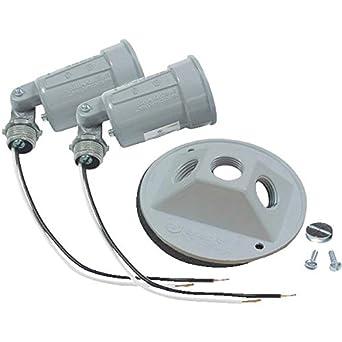 Do it Double Weatherproof Outdoor Lamp-holder - Flood Lighting ...