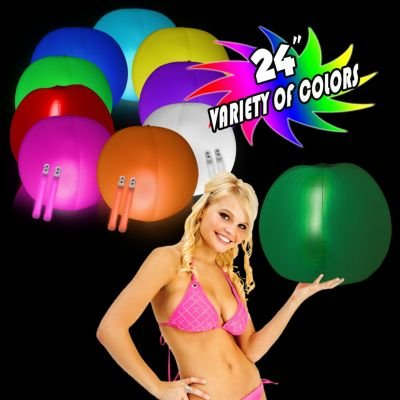 - Windy City Novelties Glow in the Dark Beach Ball - 24
