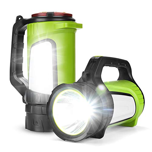 Odoland Ultra Bright 1200 Lumen LED Camping Lantern Rechargeable with Brightness Adjustment, 2600mAh Power Bank of 5 Light Modes, Portable Lantern Flashlight for Hurricane Emergency
