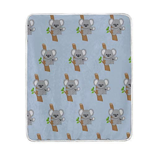 Australia Blanket - IceLuckyU Cute Australia Koala Bear Blanket Soft Warm Lightweight Blankets for Bed Couch Sofa Travelling Camping 60 x 50 Inch Throw Gift for Kids Adults