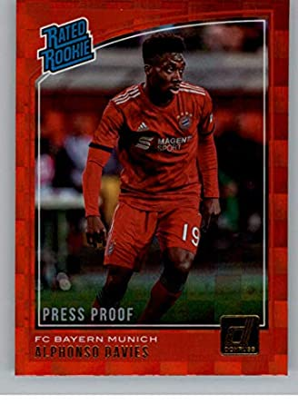 low priced 61513 f6f68 Amazon.com: 2018-19 Donruss Press Proof Red Soccer #176 ...