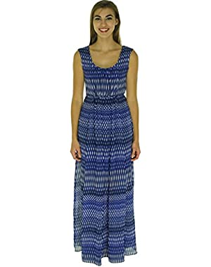 Womens Chiffon Pattern Maxi Dress