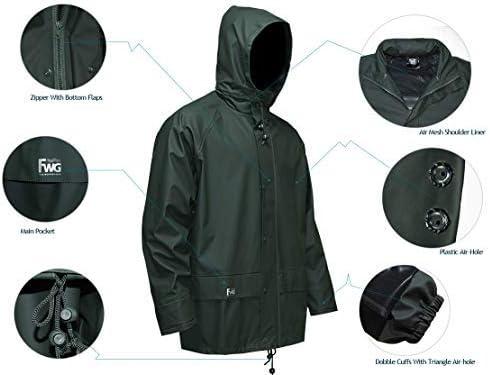 Navis Marine Rain Suit for Men Women Heavy Duty Workwear Waterproof Jacket with Pants 3 Pieces