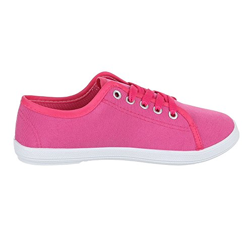 femme basses Chaussures Chaussures lacets rose C loisirs de chaussures bonbon 34 O6nR6U1q