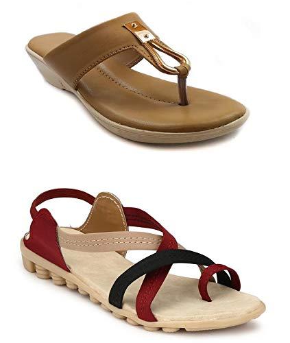 GrienYrus Women Sandal Combo