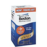 Bausch and Lomb Boston Simplus Travel Kit -- 1 oz (Quantity of 4)