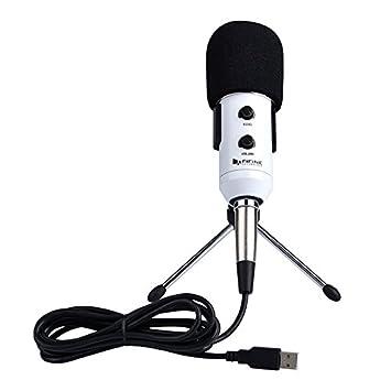 Wewoo Micro PC para y Ordenador Portátil Puerto de Oído USB2.0 Longitud Cable: 2,5 m Color Blanco Fifine K056 micrófono de Grabación de Universal con ...