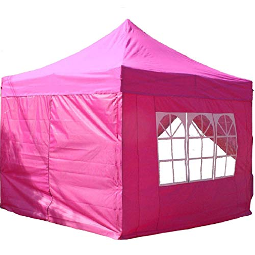 Delta 10'x10' Pop up 4 Wall Canopy Party Tent Gazebo Ez Pink - F Model Upgraded Frame Canopies (Best Canopy Tent For Craft Shows)