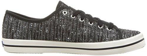Keds Dames Kickstart Lurex Stripe Fashion Sneaker Zwart
