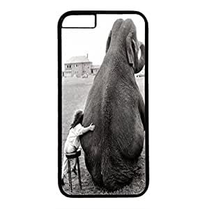 DIY iPhone 6 Plus Case Cover Custom Phone Shell Skin For iPhone 6 Plus With Girl and Elephant