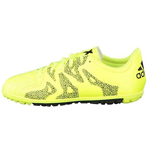 adidas Kinder Fussballschuhe X 15.3 TF Jr Leder solar yellow/solar yellow/core black 38 2/3