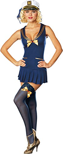 Pin Up Costumes Cheap (Dreamgirl Women's Seaside Pinup Costume Small)
