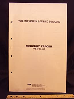 1989 mercury tracer electrical wiring diagrams schematics ford 1984 Mercury Tracer Wagon 1989 mercury tracer electrical wiring diagrams schematics ford motor company amazon com books