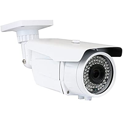 GW Security 2.1MP 1080P CCTV HD-CVI /TVI/AHD/960H 1200TVL 4-in-1 Camera 6-22mm Lens IR-CUT 72 IR Leds Night Vision Outdoor Indoor Bullet Security Camera by GW