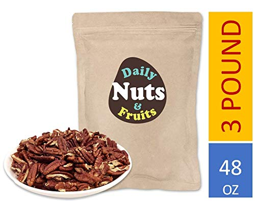 - 3 LB PECAN (DRY-ROASTED) BAKING PIECES (KOSHER CERTIFIED)