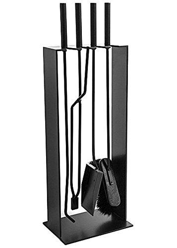 Kaminbesteck 2 schwarz Stahl Kamingarnitur Norma Conmoto 4tlg