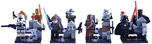 8-minifiguras-de-Star-Wars-Compatible-con-LEGO-Incluye-Darth-Maul-Darth-Vader-C3PO-Chewbacca-Anakin-Skywalker-y-3-personajes-ms