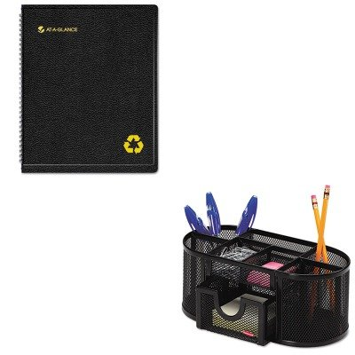 KITAAG70951G05ROL1746466 - Value Kit - At-a-Glance Recycled Weekly/Monthly Professional Appointment Book (AAG70951G05) and Rolodex Mesh Pencil Cup Organizer (ROL1746466)