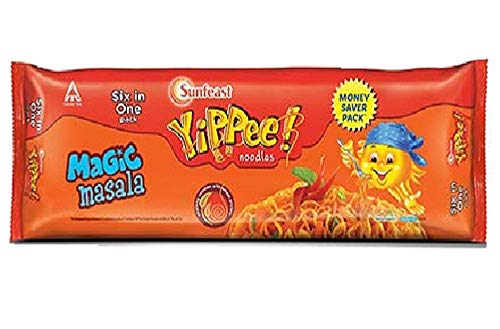 Sunfeast YiPPee! Magic Masala long, slurpy noodles | with real vegetables and nutrients | Six in One Pack, 420g Pack