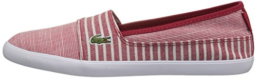 Lacoste Women's Marice 118 1 Caw Sneaker, Red/White, 10 M US