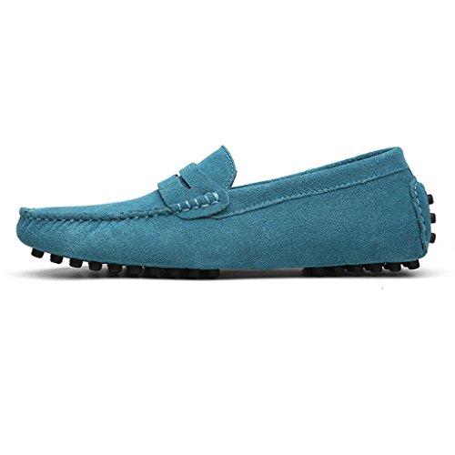 Mocassini Casuale On Scarpe scamosciata Slip Blue Classiche Loafers Penny Uomo Eagsouni wZSqtEn