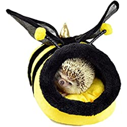 YuYe Lovely Cartoon Animal Pet Nest Bed Squirrel Puppy Hamster House Sleeping Cage - S Bees