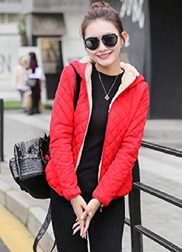 Fit Fitting Red Howme Up Fleece Slim Plus Velvet Coat Women Slim Zip qxq0gUA