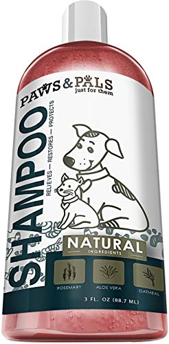 Natural Oatmeal Dog-Shampoo Conditioner - 3oz Compact Travel Size Medicated Clinical Vet Formula Wash All Pets Puppy & Cats - Made Aloe Vera Relieving Dry Itchy Skin