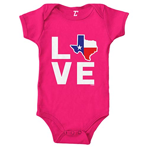 Love Texas - Texan Pride Strong Bodysuit (Pink, Newborn)