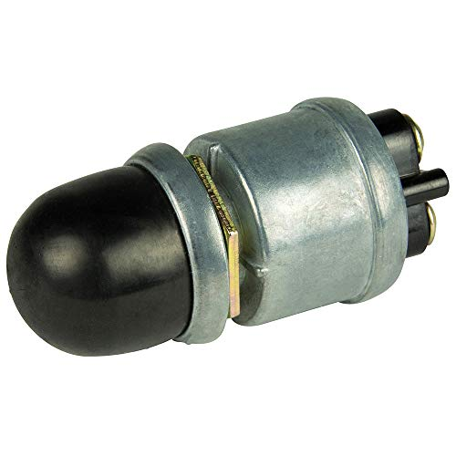 BEP 2ポジション SPST 高耐久 オフ/(オン) プッシュボタンスイッチ