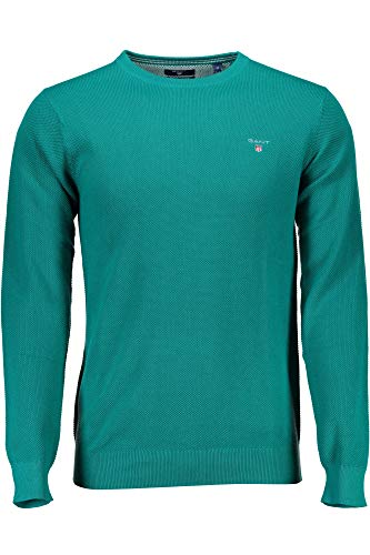 Verde Gant Cotton Felpa 361 Uomo Pique Crew qfv6dwfX