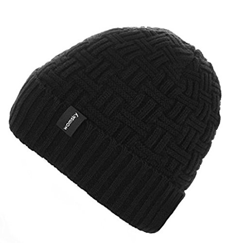Womsky Thick & Warm Beanie in Cable And Ribbed Knit Styles